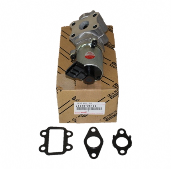 Genuine Lexus EGR Valve 4 Piece Kit with Gaskets (IS220D, IS250, IS350) 25620-26102, 2562026102